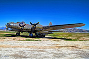 Historic Military Vehicle Posters - B-17 Flying Fortress Poster by Leanne Howie