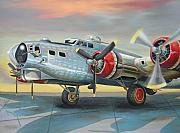 Airplane Radial Engine Posters - B-17 G Flying Fortress Poster by Stuart Swartz