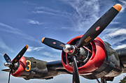 Airplane Engine Photos - B-24 Engine by Mike Burgquist