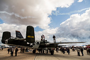 Drab Framed Prints - B-25 Airshow Framed Print by John Daly