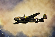 B-25 Bomber Prints - B-25 Georgies Gal Print by Peter Chilelli