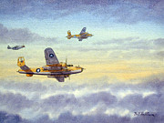 Airplane Paintings - B-25 Mitchell by Bill Holkham