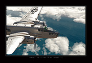 B-25 Bomber Prints - B-25 On Patrol Print by Larry McManus