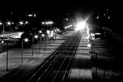 Paul Wash Art - B and W Railroad by Paul Wash