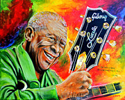 B.b.king Paintings - B. B. King by Karl Wagner