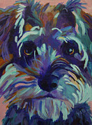 Acrylic Dog Paintings - B. B. Lynn by Pam Bledsoe