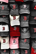 Caps Prints - B for BoSox Print by Joann Vitali
