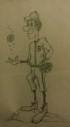 B Is For Baseball Print by Christy Brammer