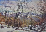 Switzerland Paintings - B02. Monte Tomara CH by Les Melton