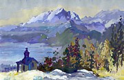 Switzerland Paintings - B06. Monte de Lago CH by Les Melton