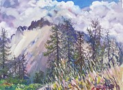 Switzerland Paintings - B07. Scene  from Ticino CH by Les Melton