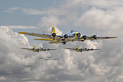 Flying Digital Art Prints - B17 486th Bomb Group Print by Pat Speirs