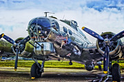 Passenger Plane Framed Prints - B17 Bomber Yankee Lady Framed Print by Thomas Woolworth