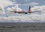 Usaf Framed Prints - B17 The Hardest Mile Framed Print by Pat Speirs