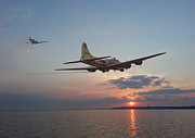 Warplane Prints - B17  Westward Ho Print by Pat Speirs