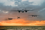 B-25 Bomber Prints - B25 Escape Print by James Biggadike