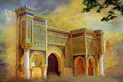 Rabat Paintings - Bab Mansur by Catf