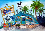 Key West Paintings - Babalus by Abigail White