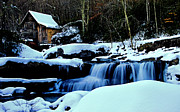 Matthew Winn Posters - Babcock Gristmill in Winter Poster by Matthew Winn