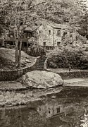 Grist Mill Prints - Babcock sepia  Print by Steve Harrington