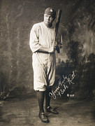 Signed Poster Art - Babe Ruth by Sanely Great