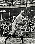 Babe Ruth World Series Framed Prints - Babe Ruth Painting Framed Print by Florian Rodarte