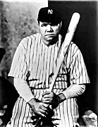 Boston Red Sox Canvas Posters - Babe Ruth Portrait Painting Poster by Florian Rodarte