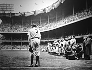 Mlb Metal Prints - Babe Ruth Poster Metal Print by Sanely Great