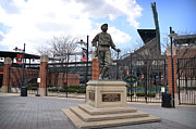 Camden Yards Posters - Babe Ruth Statue Baltimore Poster by Bill Cannon
