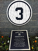 Yankee Legend Posters - Babe Ruth Tribute Yankee Stadium Poster by Amy Cicconi