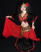 Dancer Sculptures - Babushka The Bohemian Belly Dancer by Amanda Machin