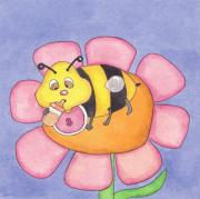 Kids Books Metal Prints - Baby Bee Metal Print by Maria Rodrigues