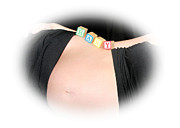 Baby Bump Art - Baby Blocks Color Vignette by Melissa Kimball