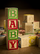 Baby Room Metal Prints - Baby Blocks Metal Print by Edward Fielding