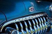 Winery Signs Posters - Baby Blue Buick Poster by Sharon Thompson