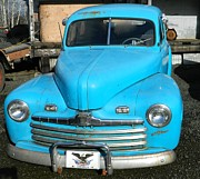Neurotic Images Photography Prints - Baby Blue Ford Print by Chalet Roome-Rigdon