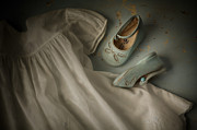 Shoe Prints - Baby Blues Print by Amy Weiss