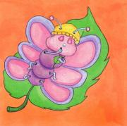 Kids Books Metal Prints - Baby Butterfly Metal Print by Maria Rodrigues