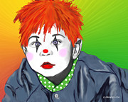Baby Digital Art - Baby Clown by Methune Hively