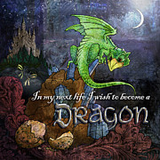 Moonglow Posters - Baby Dragon Poster by Evie Cook