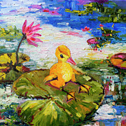 Ginette Callaway - Baby Duck on Lily Pad Lazy Summer