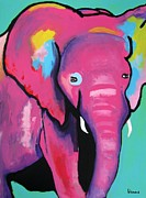 Fort Worth Painting Prints - Baby Elephant Print by Venus