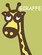 Twins Digital Art Prints - Baby Giraffe nursery wall art Print by Nursery Art