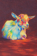 Christianity Drawings - Baby Goat by Christine Dion