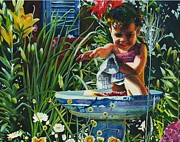 Maureen Dean - Baby in a Birdbath