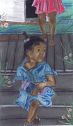 Board Pastels - Baby in Blue by Samara Doumnande