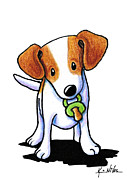 Baby Jack Russell Terrier Print by Kim Niles