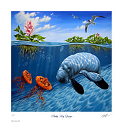 Spoonbill Paintings - Baby Key Largo by Philip Slagter