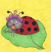 Kids Books Metal Prints - Baby Lady Bird Metal Print by Maria Rodrigues