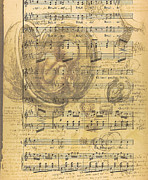 Old Sheet Music Posters - Baby Music Poster by Nomad Art And  Design